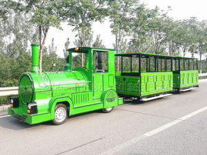 Customized Green Trackless Train