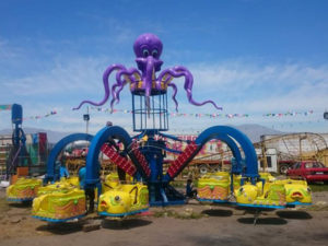 Amusement Park Octopus Rides