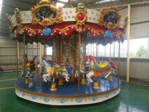 Park carousel horse rides