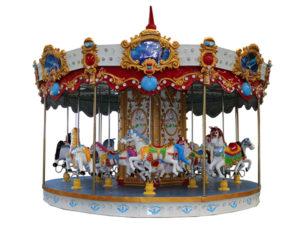 Amusement park carousel horse rides
