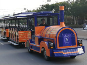 Tourist Orange Trackless Train