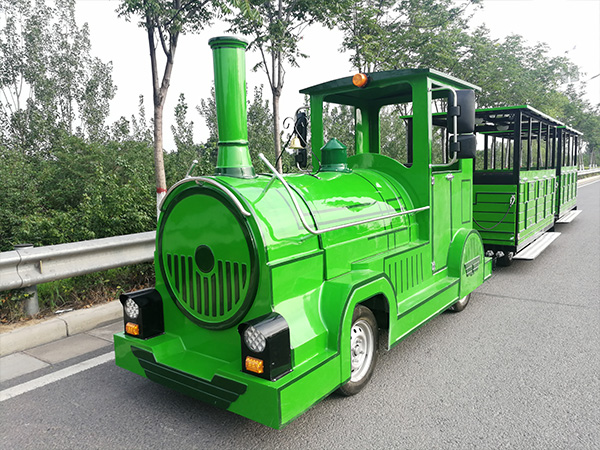 Customed-Green-Trackless-Train