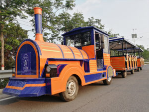 Orange Tourist Trackless Train