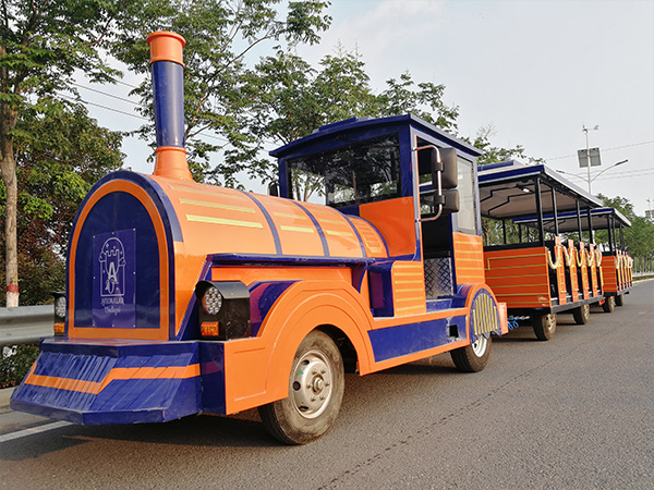 Tourist-Orange-Trackless-Train