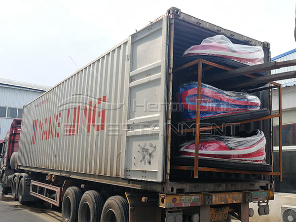 The Delivery of Bumper Cars and Carousel for Our UK Client