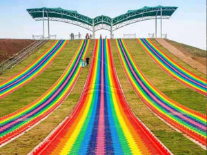 The Straight Rainbow Dry Snow Slope Slide