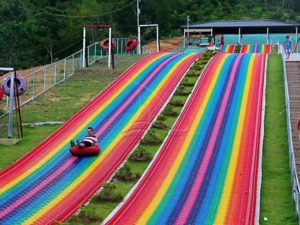 The Rainbow Dry Snow Slope Slide With Inflatable Bag