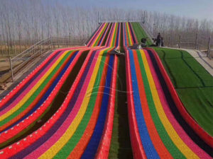 The Rainbow Dry Snow Wave Slope Slide