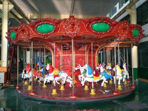 How does amusement carousel update widgets?